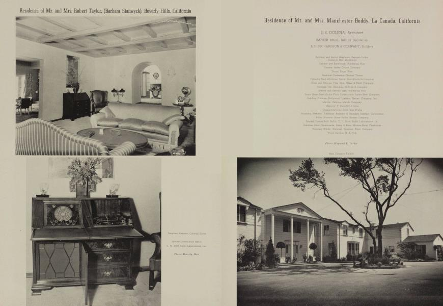 Residence of Mr. and Mrs. Manchester Boddy, La Canada, California