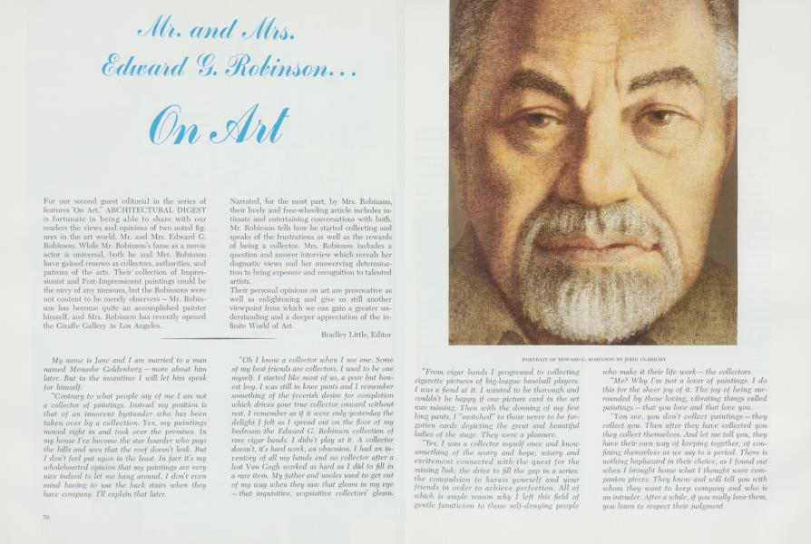 Mr  And Mrs  Edward G  Robinson    On Art | Architectural
