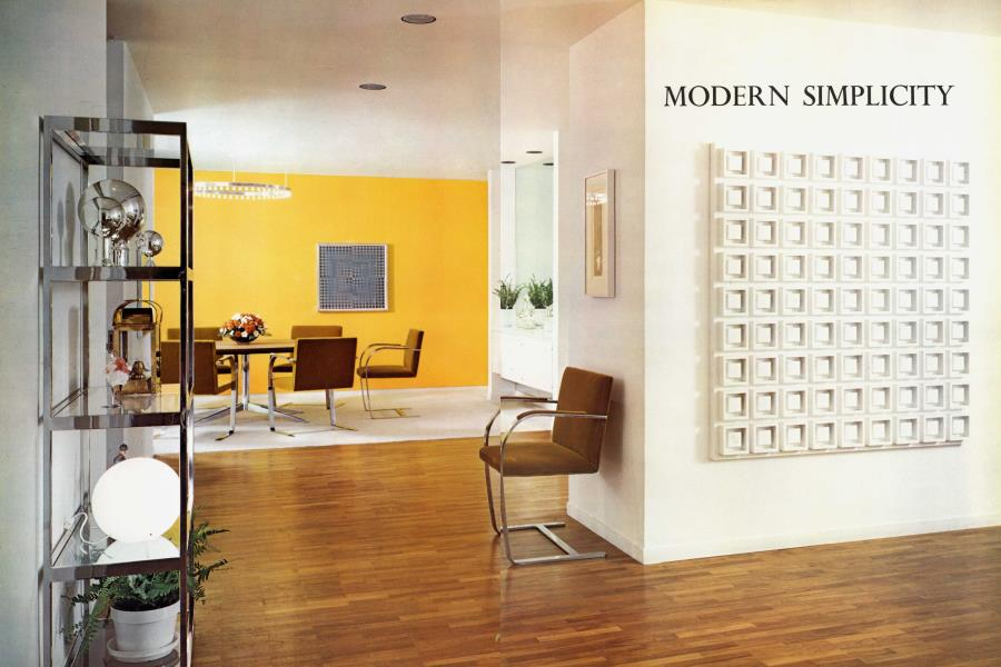 Modern Simplicity For New York Apartment Architectural Digest September October 1970