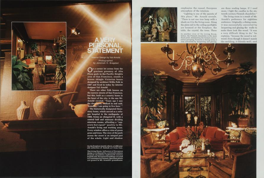 A Very Personal Statement Architectural Digest September 1972