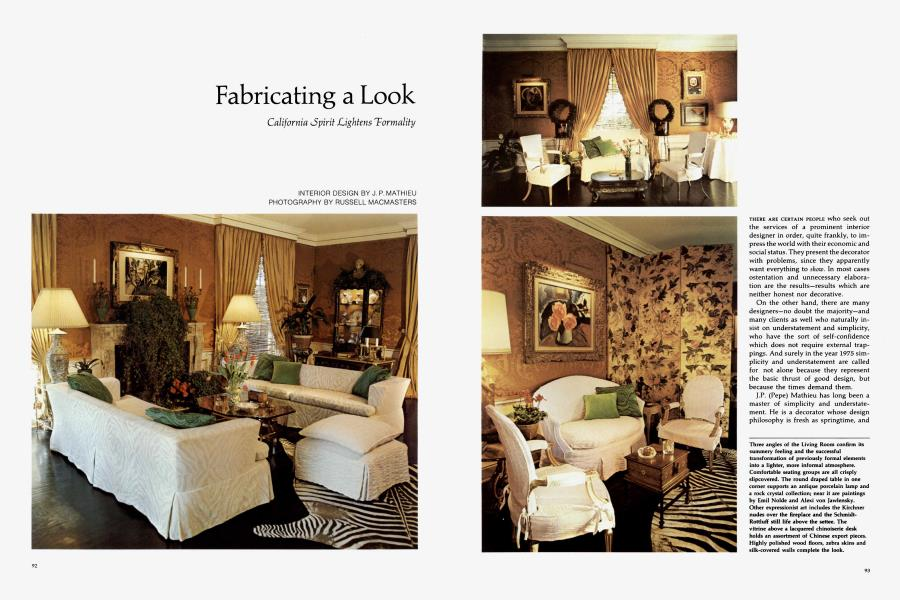 Fabricating A Look Architectural Digest May June 1975