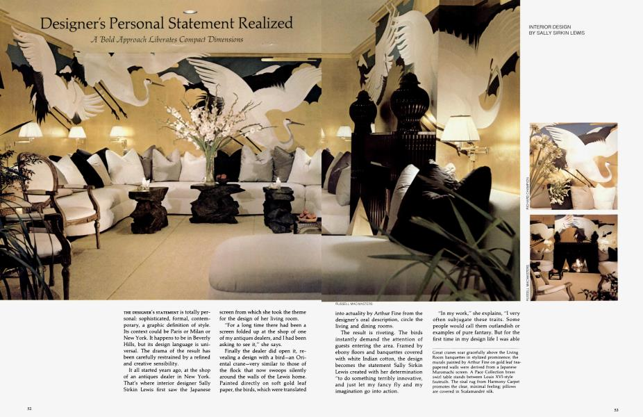 Designer S Personal Statement Realized Architectural Digest January February 1976