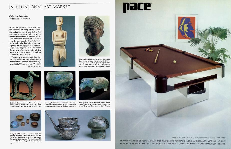 International Art Market | Architectural Digest | JUNE 1979