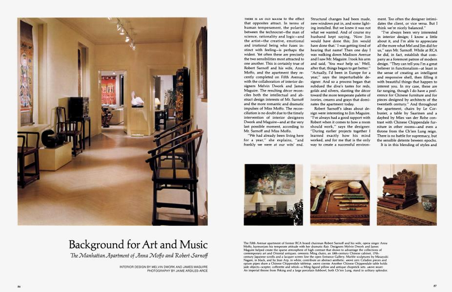 Background For Art And Music Architectural Digest July 1979