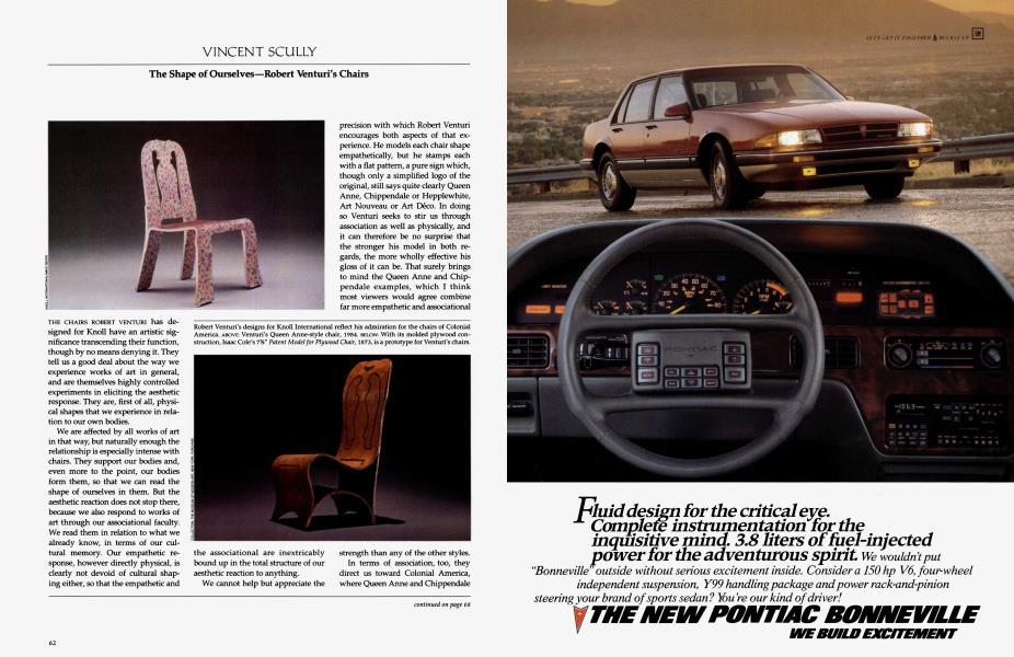 Vincent Scully | Architectural Digest | APRIL 1987