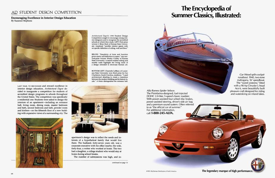 Ad Student Design Competition | Architectural Digest | JULY 1991