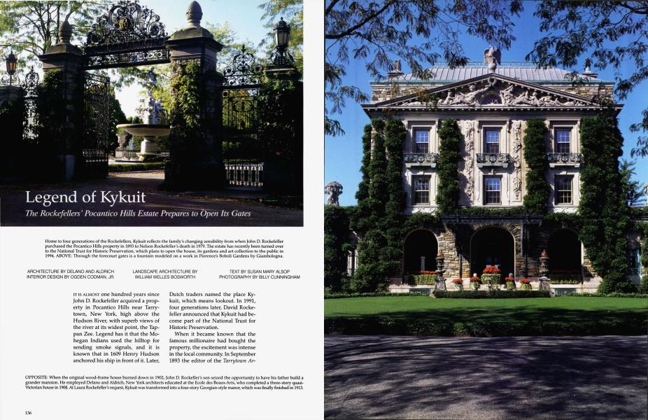 Legend of Kykuit   Architectural Digest   MAY 1992