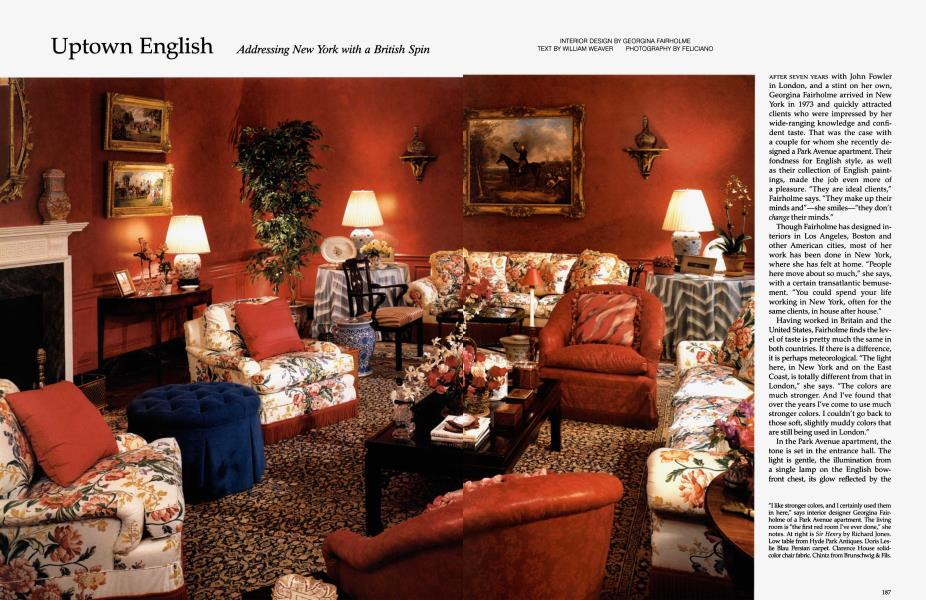 Uptown English Architectural Digest November 1992