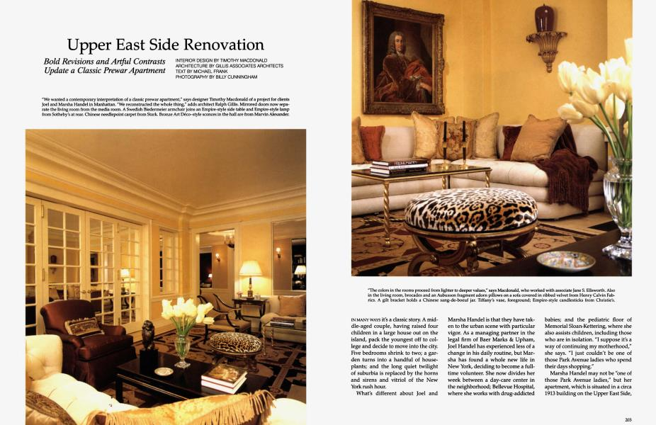 Upper East Side Renovation Architectural Digest November 1992