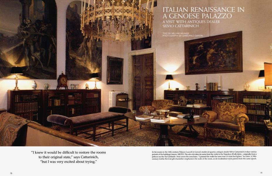 Italian Renaissance In A Genoese Palazzo Architectural Digest July 1995