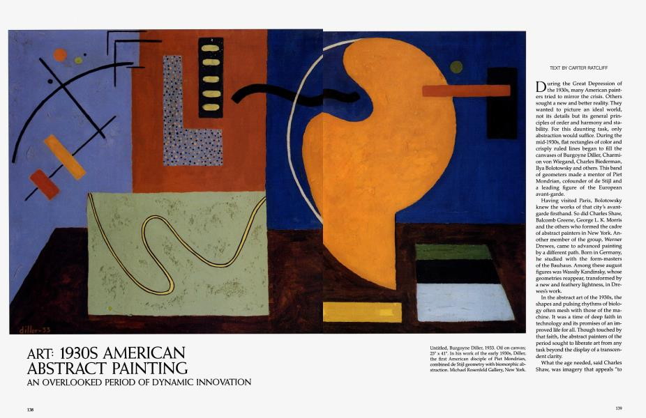 1930s American Abstract Painting Architectural Digest