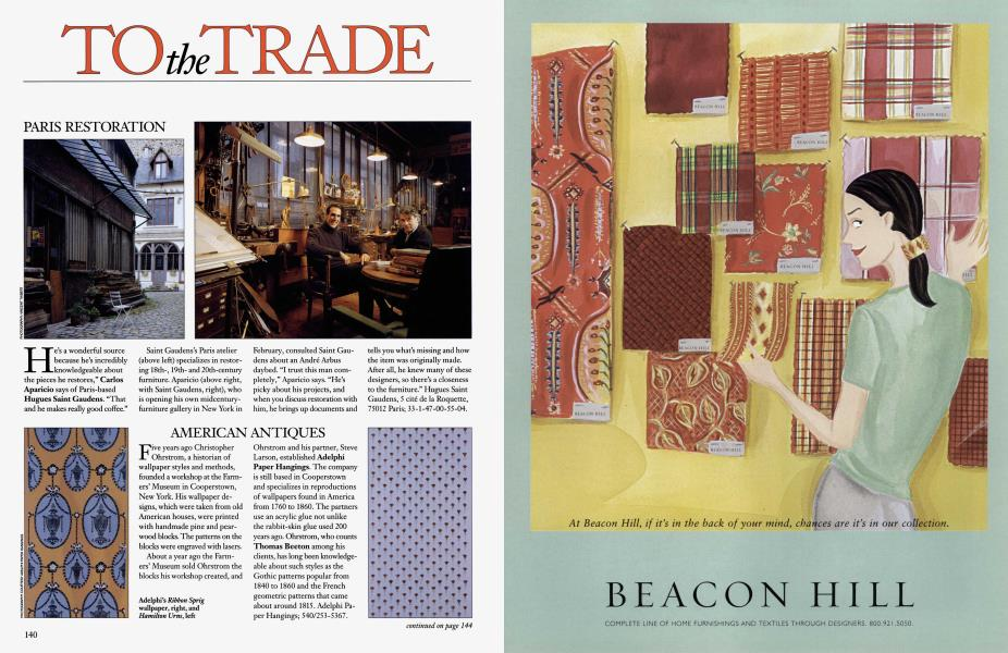 To The Trade Architectural Digest February 2001