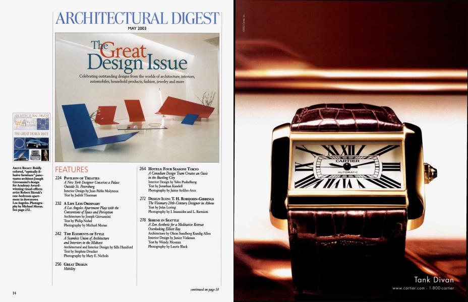 ARCHITECTURAL DIGEST MAY 2003   Architectural Digest   MAY 2003
