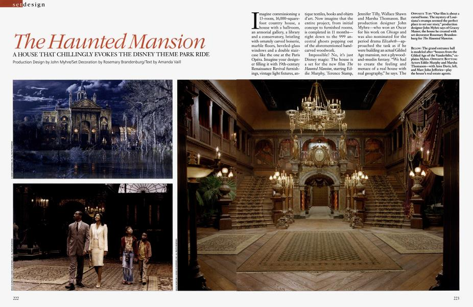The Haunted Mansion Architectural Digest November 2003