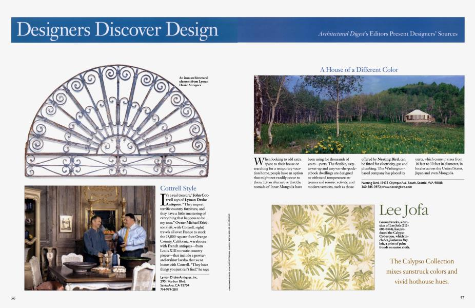 Disigners Discover Design   Architectural Digest   JUNE 2004