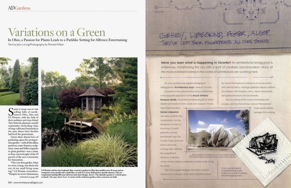 Variations On A Green Architectural Digest June 2007