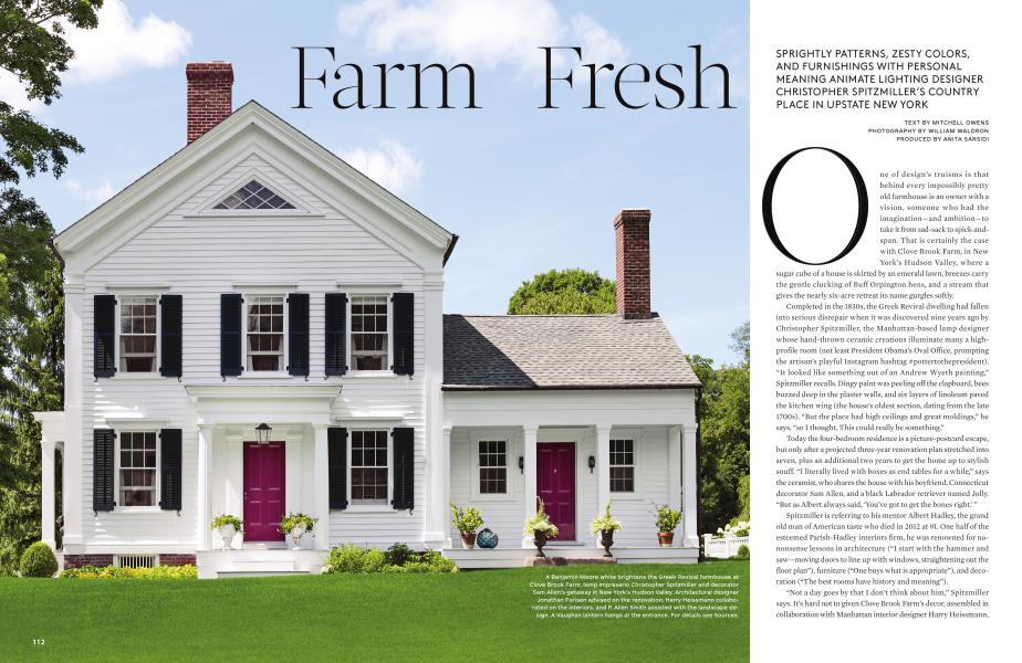 Farm Fresh | Architectural Digest | JULY 2015