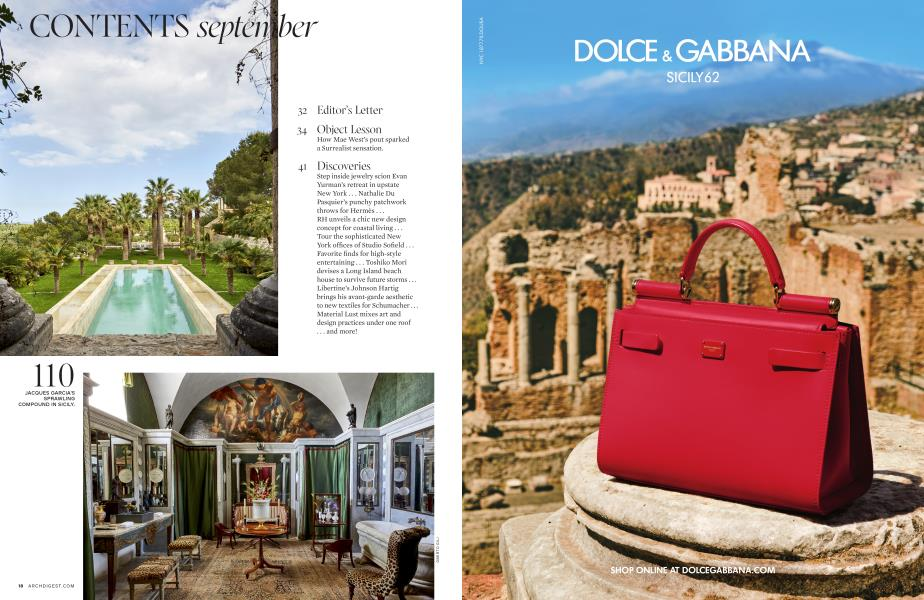 CONTENTS september | Architectural Digest | SEPTEMBER 2019
